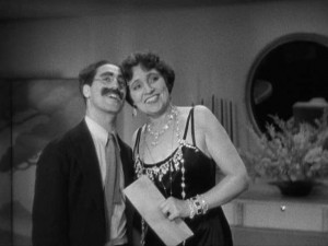 Groucho Marx y Margaret Dumont